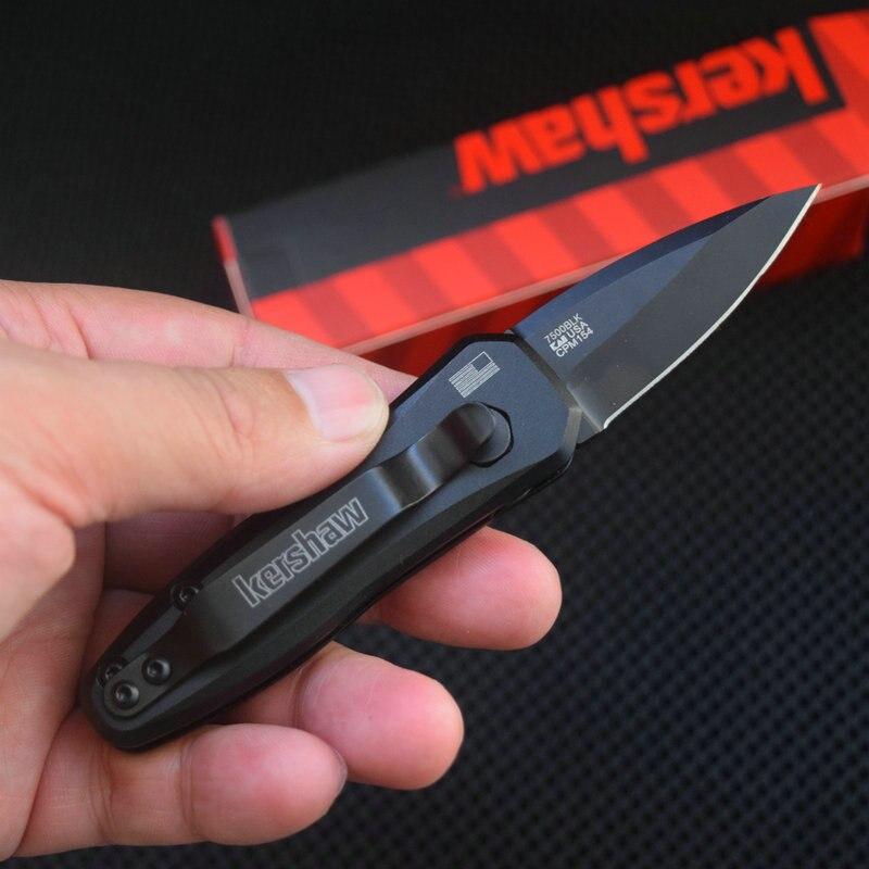 Trskt Kershaw-سكين جيب ، مقبض ألومنيوم ، 7500BLK/GN Launch 4 CPM 154 ، 6061-T6 ، سكاكين صيد للتخييم والبقاء ، توصيل مباشر