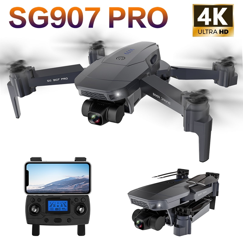 SG907 PRO GPS Drone 2 Axis Gimbal Camera 4K HD 5G Wifi Professional Wide Angle FPV Optical Flow RC Q
