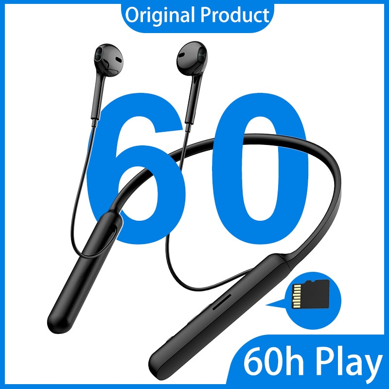 Wireless Bluetooth Headphones HIFI Subwoofer Handsfree Call Multi-Function Button Neckband Game Earphones with Card enlarge