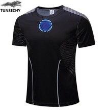 ตัวอักษรยี่ห้อใหม่ผู้ชาย3D สีดำ Iron Man เสื้อยืดแขนสั้นกีฬาผู้ชายเสื้อยืดหลวมชายเสื้อยืด top