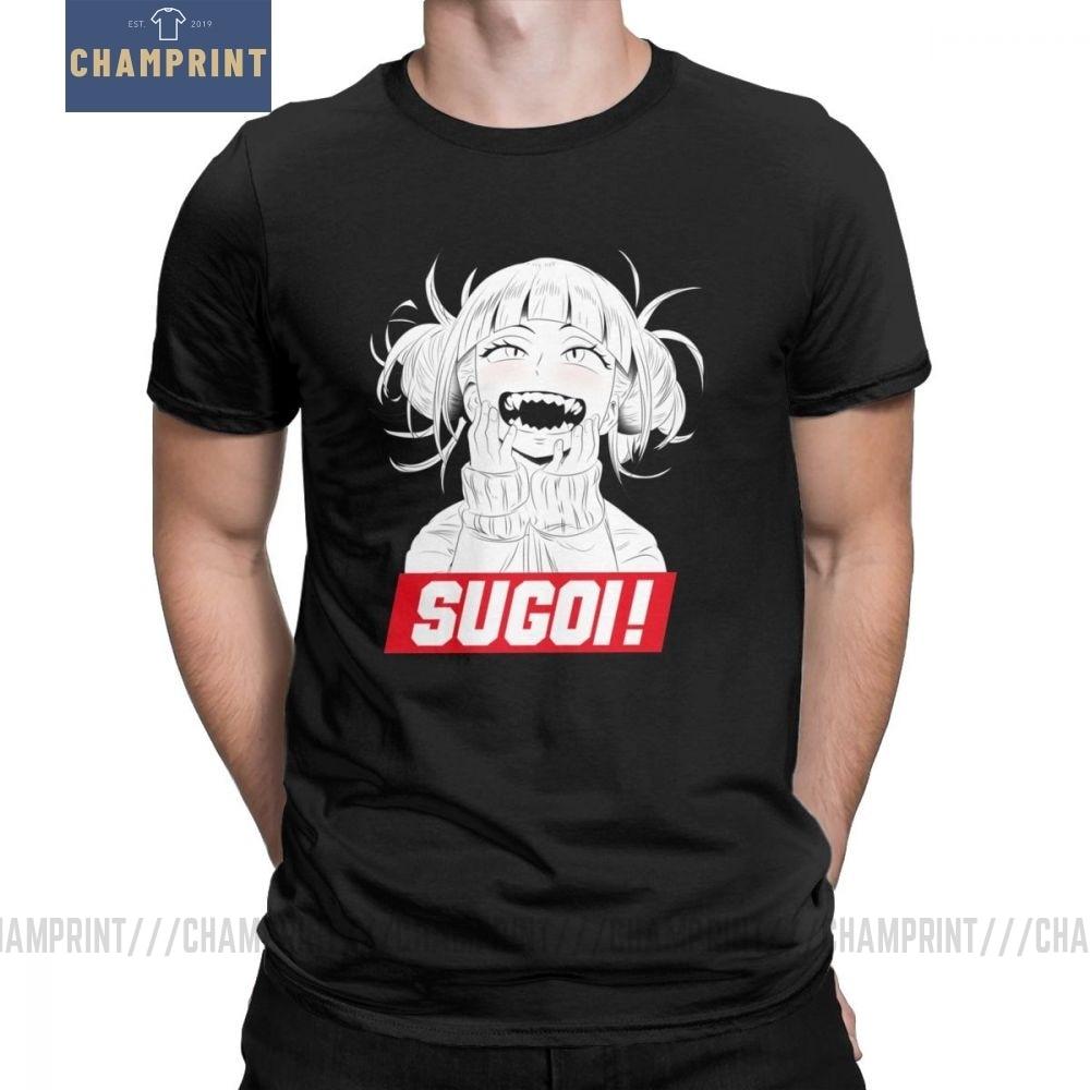Himiko Toga Sugoi Boku No Hero Leisure T Shirt for Men camisetas de manga corta diseños de camisetas de algodón puro Camisetas cuello redondo