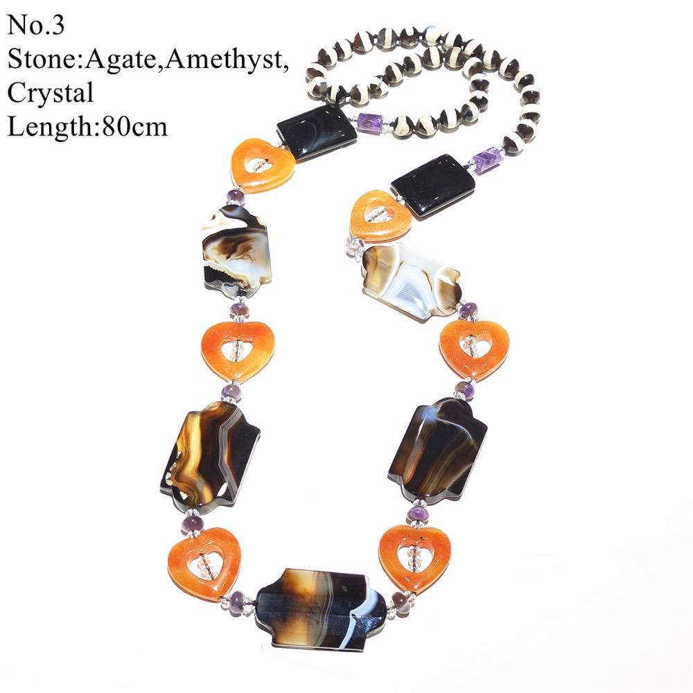 LiiJi Einzigartige Stocksale Halskette Schwarz Onyx Perle Aventurin Rhodonit Lange Halskette Nur 1PCS jedes lager Schmuck für Frauen