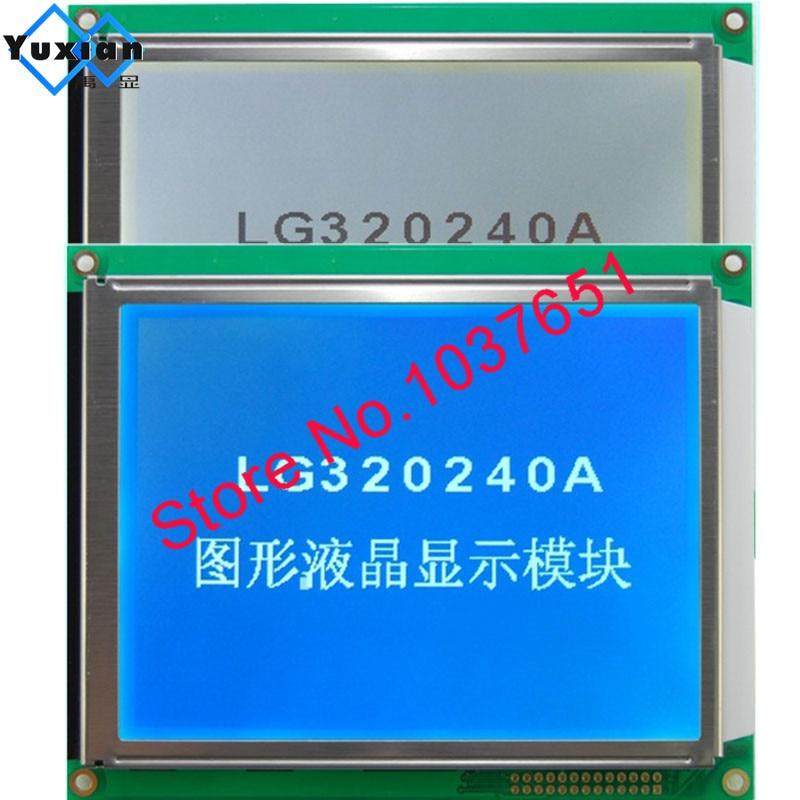320240 lcd عرض لوحة RA8835 الأزرق أو FSTN الأبيض led مع لوحة اللمس LG320240A بدلا WG320240C0-TMI-TZ # HG32024014