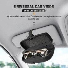 1Pcs Universal Auto Sonnenblende Sonnenbrille Fall Tragbare Wand Montiert Halter Gläser Käfig Lagerung Box Funktionale Kleinigkeiten Storager