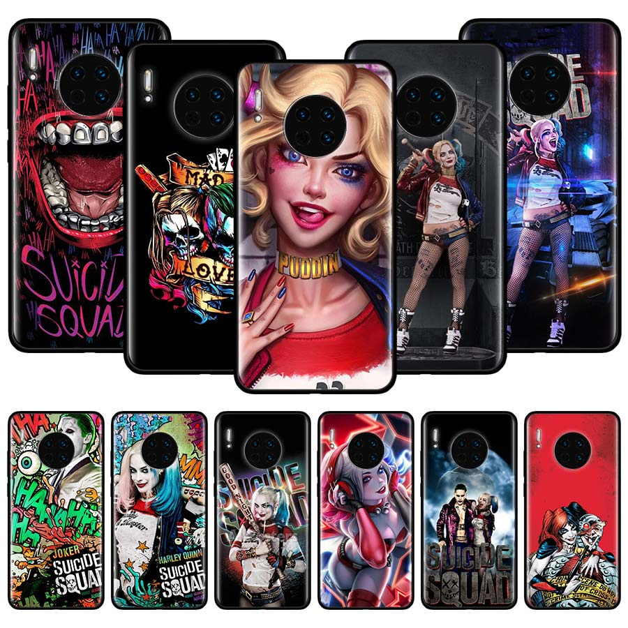 Funda de silicona para Huawei Mate 10 20 Lite 30 Lite 20 Pro Y9s Y5 Y6 Y7 Y9 2019 Nova 5T 7i cubierta Harley Quinn suicidio escuadrón