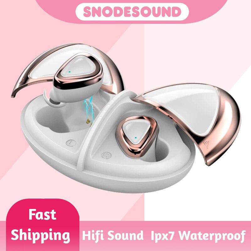 Fone de Ouvido sem Fio Fones para a Menina Snodesound Verdadeiro Bluetooth Fones Alta Fidelidade Estéreo Tws Graves Esporte Xiaomi Telefones m2 5.0