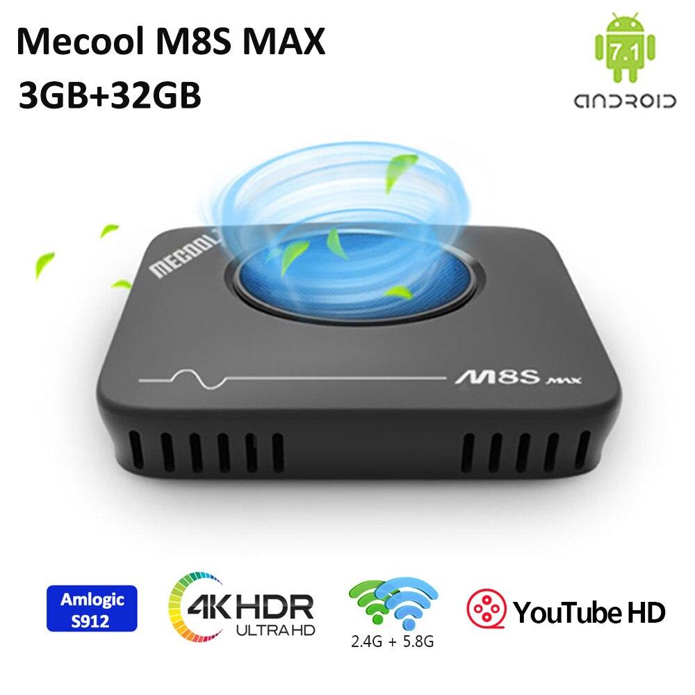 Mecool M8S Amlogic S912 Android Tv Box 3GB DDR3 32GB 2,4G/5G WiFi Unterstützung IEEE 802,11 a/b/g/n/ac Blutooth 4,1 LAN 10/ 100M Tv Box