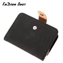 KUDIAN ours femmes affaires porte-carte 19 Bits en cuir givré petit étui pour carte didentité de crédit dames mode Kaarthouder BIY040 PM49