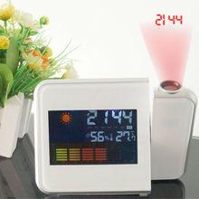 Alarme de Projection Cool et créative   Design original, en provenance de lécran LCD, horloge à température vocale, murale/plafond