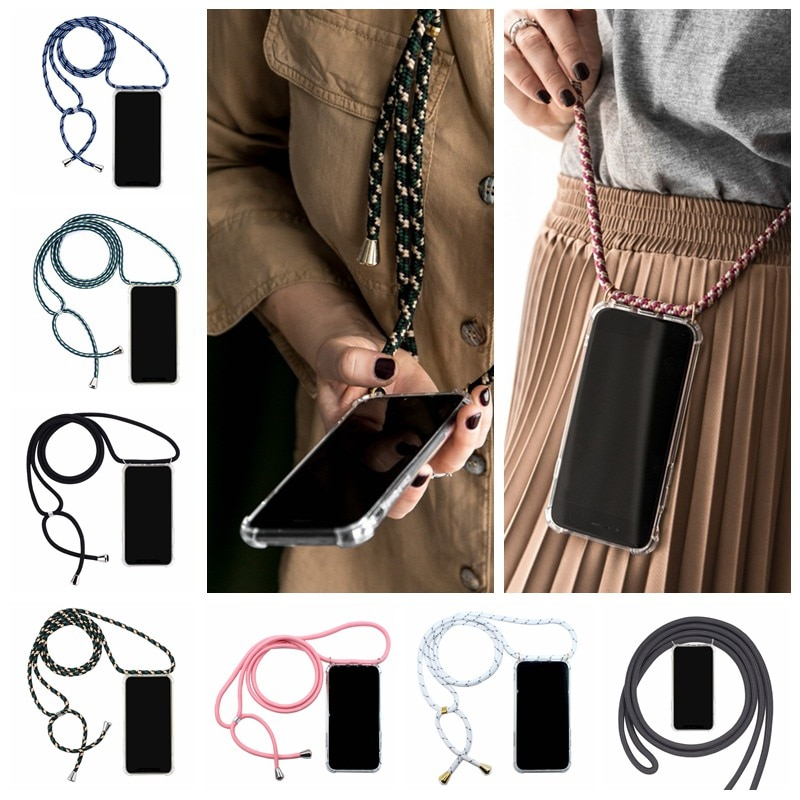 Strap Cord Chain Phone Case For Xiaomi Mi Note 10 9T Pro CC9 CC9E 9 SE A3 A2 A1 6X 5X Poco X2 F1 Cov