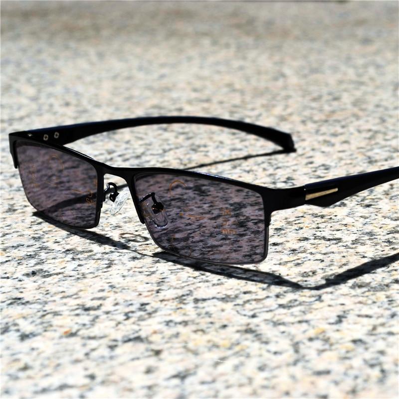 Очки для чтения Фотохроматические прогрессивные многофокусные очки для чтения видеть дальние и близкие очки для чтения бифокальные пресбиопии мужские uv400