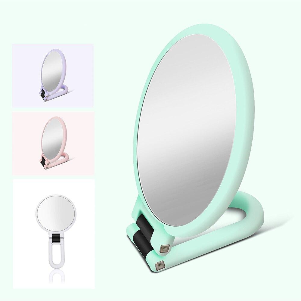 Ручное Складное двухстороннее косметическое зеркало с увеличением