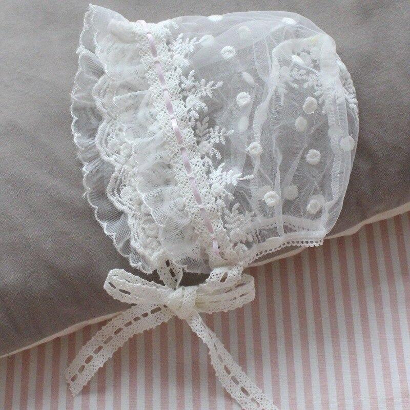 Шапка-тюрбан для маленьких девочек, кружевная шапка Лолиты, испанской принцессы, горничной, подарки для маленьких девочек, аксессуары для т...