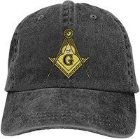 freemason masonic sports denim cap adjustable unisex plain baseball cowboy snapback hat