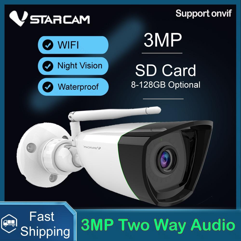 Vstarcam 3MP كاميرا IP في الهواء الطلق رصاصة واي فاي كاميرا AI الإنسان كشف IP66 مقاوم للماء الأشعة تحت الحمراء ليلة الصوت استقبال كاميرا تلفزيونات الد...