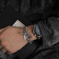 stainless steel ot buckle bracelet men and women tide ins niche design bracelets couple bracelets hand jewelry