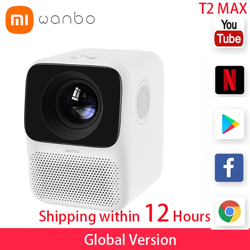Global Version Wanbo T2 MAX LCD Projector LED Support Vertical keystone Correction Portable Mini Hom
