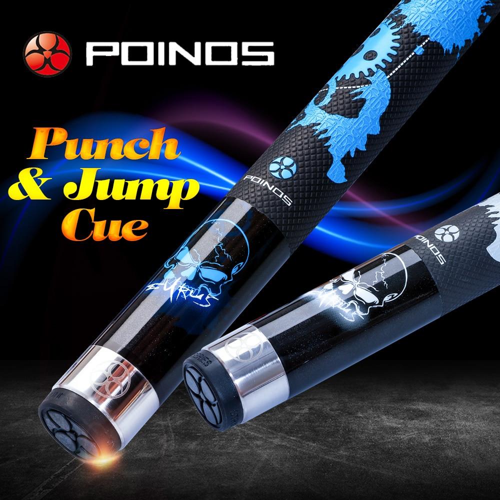 Juego de palo de Billar profesional Poos Break Punch & Jump Cue Billar 13mm Tip 147cm longitud 2 colores con muchos regalos 2019