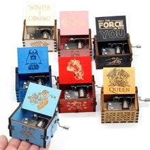 Multi Farbe Musik Box Red Dragon Ball Schwarz Spiel Von Thron Holz Musik Box Star Wars Caja Musica Musique Party souvenir Geschenke