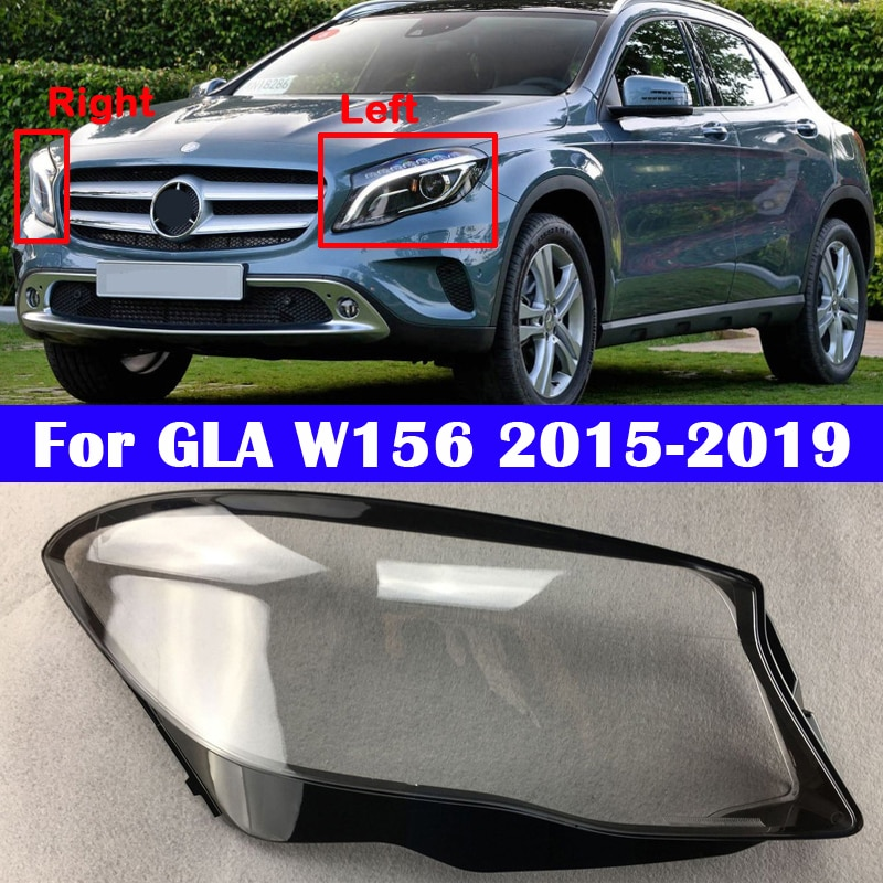 For Mercedes-Benz GLA W156 2015-2019 Car Lens protection glass lamp lampshade transparent Headlight Cover GLA250 GLA260