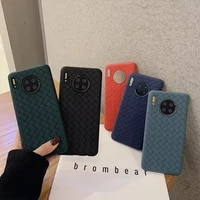 iphone case pure color woven huawei mate30prop40pro anti fall mobile phone case for v30pro iphone 12 pro max case soft shell 11