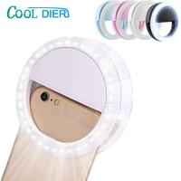COOL DIER 36 LED Selfie Ring Light Portable Flash Universal Phone Supplementary Lighting Selfie Enhancing Fill Light For iPhone