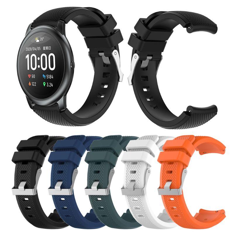 Correa de silicona blanda de 22MM para relojes XiaoMi, Haylou Solar para Garmin, Vivoactive 4, Huawei Watch GT2e