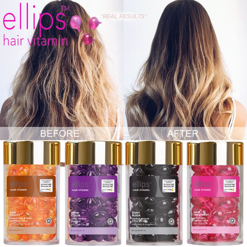 Ellips Hair Care Essential Oil Capsule Hair Vitamin Keratin Complex Oil Smooth Silky Repair Damage Serum Improve Hair Suppleness