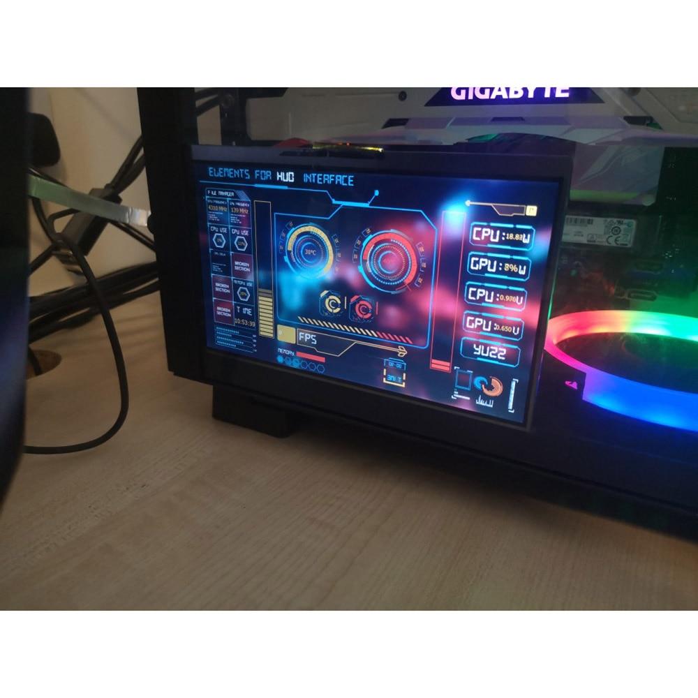 لتقوم بها بنفسك 1024*600 7 بوصة IPS HD درجة حرارة الشاشة AIDA64 رصد سطح المكتب شاشة عرض كمبيوتر سطح المكتب التوت Pi