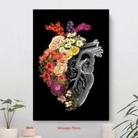 Fleur coeur printemps mode Style toile peinture Art imprimer affiche photo mur salon Decor a la maison