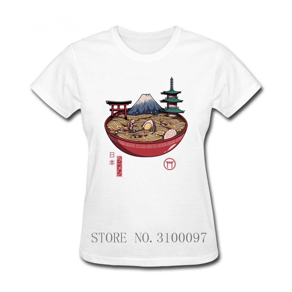 Una camiseta divertida de Ramen japonesa Streetwear divertida ropa negra para mujer camiseta Tops camisetas Japón japonés Ramen Food Koi camiseta