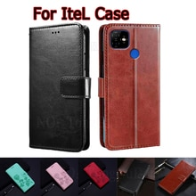 Case For Itel P36 S16 Pro Cover Leather Book Funda For Itel Vision 1 Pro Plus Case Phone Flip Wallet