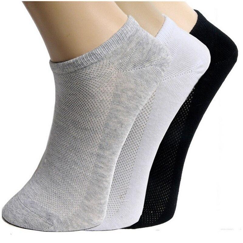 Однотонные сетчатые женские короткие носки, 4 пары, женские летние дышащие носки до щиколотки, черные, белые, серые носки
