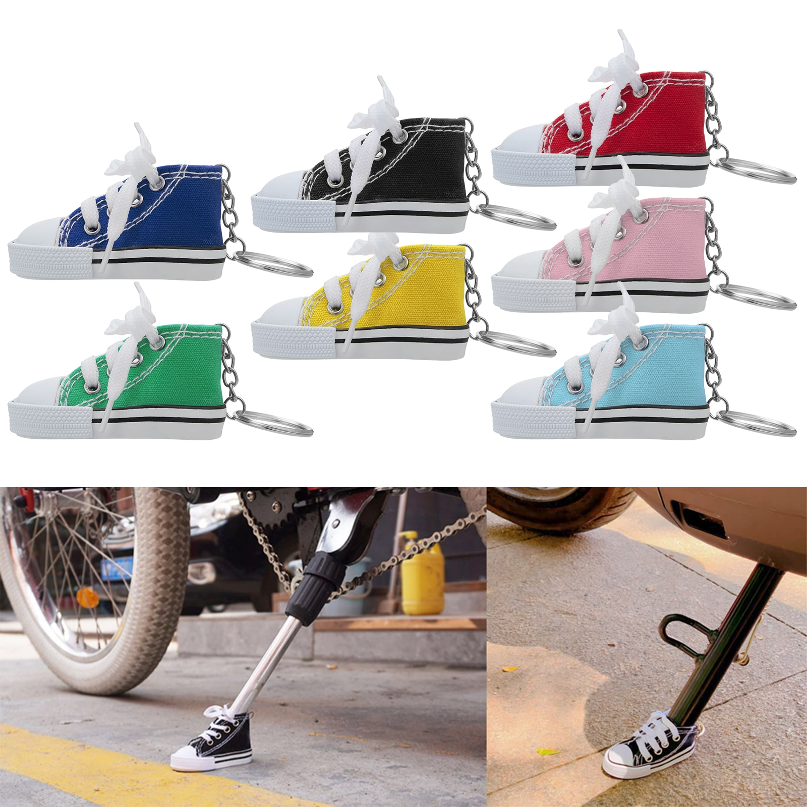 1 Pcs Creative Tripod Cover for Motorcycle Bicycle Side Shoe Shape Foot Support Electric Bike Tripod