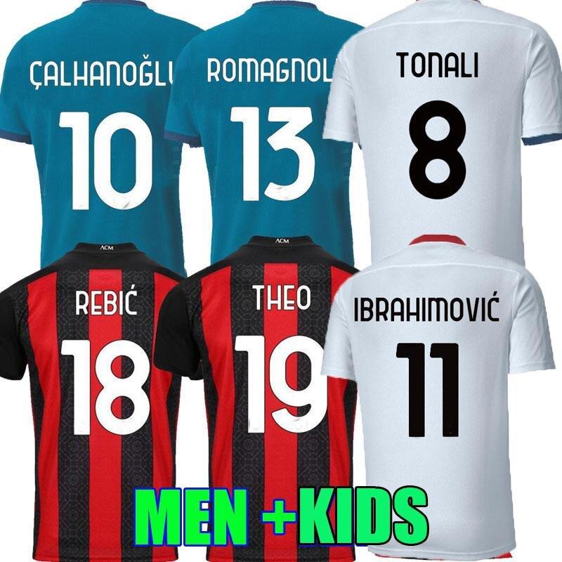 Ibrimovic-camiseta de fútbol masculina, kit de ropa para adultos AC, 20 21,...