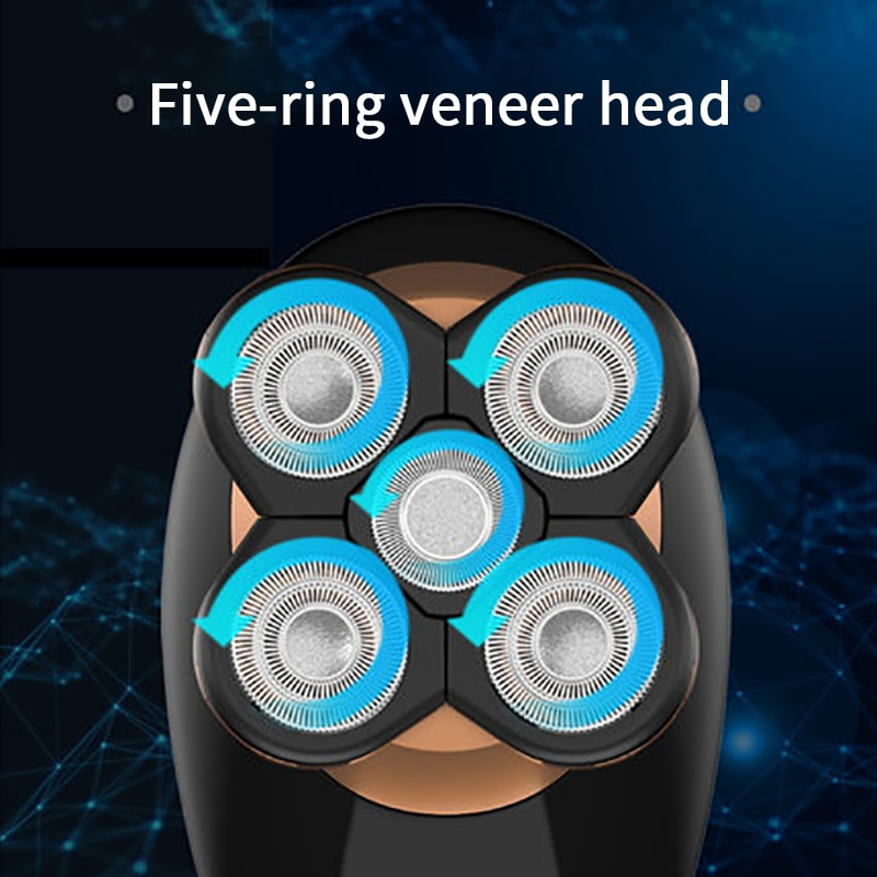 Five Floating Heads Shavers USB Rechargeable Men 5 in 1 Washable Hair Clipper Nose Ear Hair Trimmer Men Facial Cleaning Brush enlarge