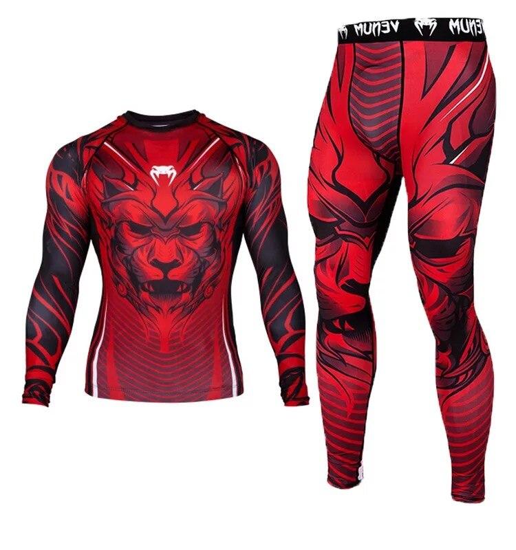 Mma rashguard muay thai boxe jerseys define sublimado brilhante impressão leão calças t camisa boxeo bjj jiujitsu erupção guarda figh