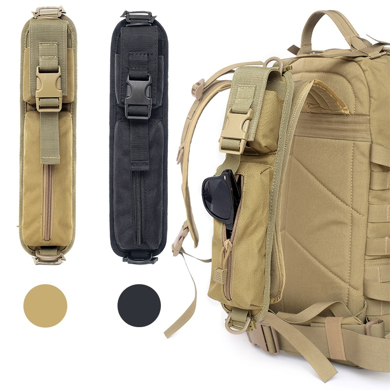 Tactical Backpack Shoulder Strap Sundries Pouch Molle Key Flashlight Pouch Outdoor Camping Hunting A