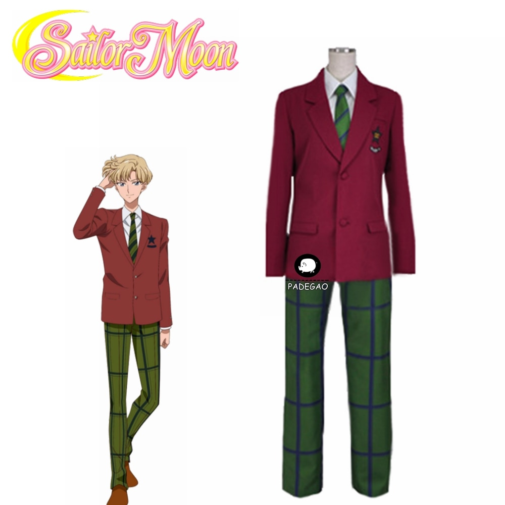 Sailor Moon Haruka Tenou Sailor Uranus Mugen Gakuen Boys JK Uniform Cosplay Costume halloween Costumes