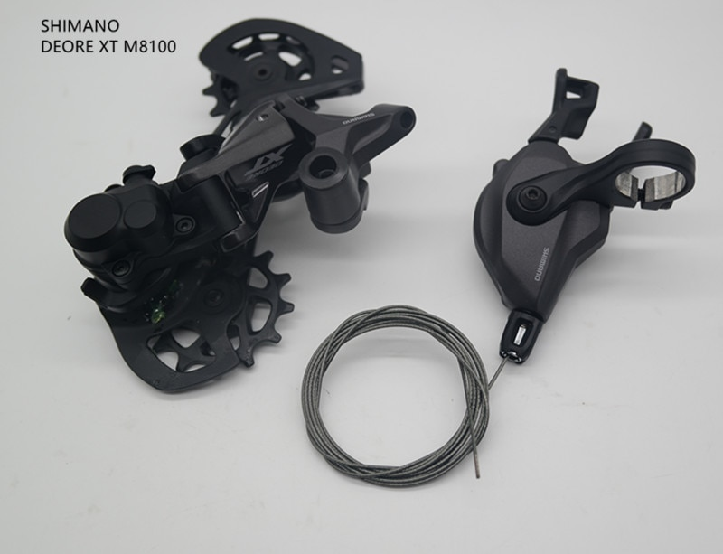 Shimano deore xt m8100 grupset mountain bike grupset 1x12-speed sl + rd m8100 desviador traseiro com shifter do lado direito