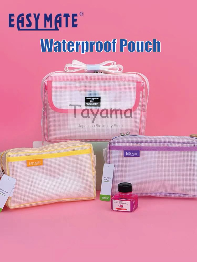 1pcs Hong Kong Brand Easy Mate Waterproof Pouch/ Shoulder Bag Large Capacity School Student Office Business 6 colors Available