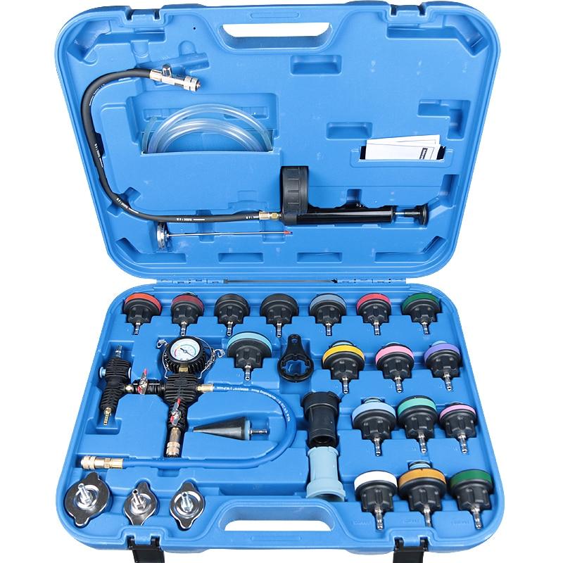 Testeur-جهاز اختبار ضغط المبرد العالمي ، مجموعة من 28 قطعة ، نظام تبريد الفراغ ، مجموعة كاشف الاختبار