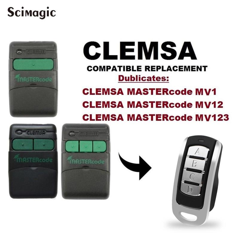 Garage à distance CLEMSA CODE MUTAN CODE maître MV1 MV12 MV123 porte clone à distance CLEMSA commande 433.92MHz