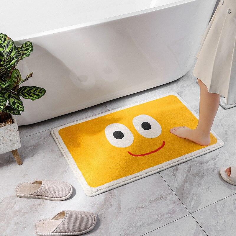 الكرتون لطيف الحمام المرحاض ماصة الحصير الطابق المرحاض باب غرفة نوم السجاد دواسة باب المنزل عدم الانزلاق الحصير الكلمة