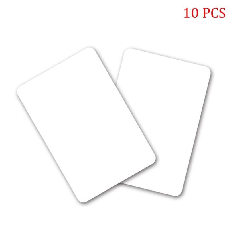 10PCS NTAG215 Unprintable NFC 태그 카드 Rewriteable 흰색 빈 스마트 내구성 카드