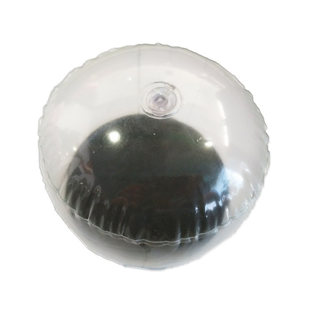 17x15cm gorra transparente inflable de PVC con inflado por aire, soporte de tapa, soporte de apoyo, soporte de tapa de exhibición abierta