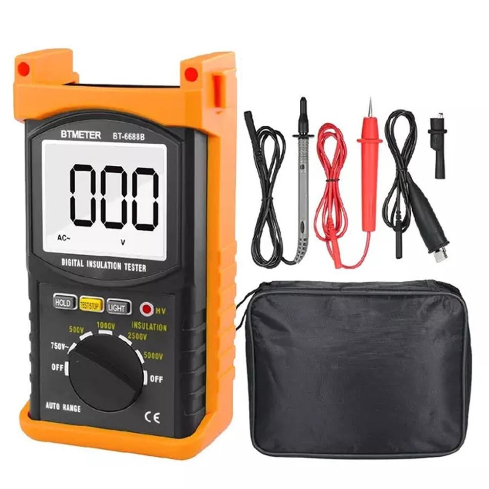 BTMETER BT-6688B جهاز اختبار مقاومة العزل الرقمي ، مع اختبار الجهد 5000 فولت ، مقاومة العزل 200 جرام أوم ، الجهد العالي