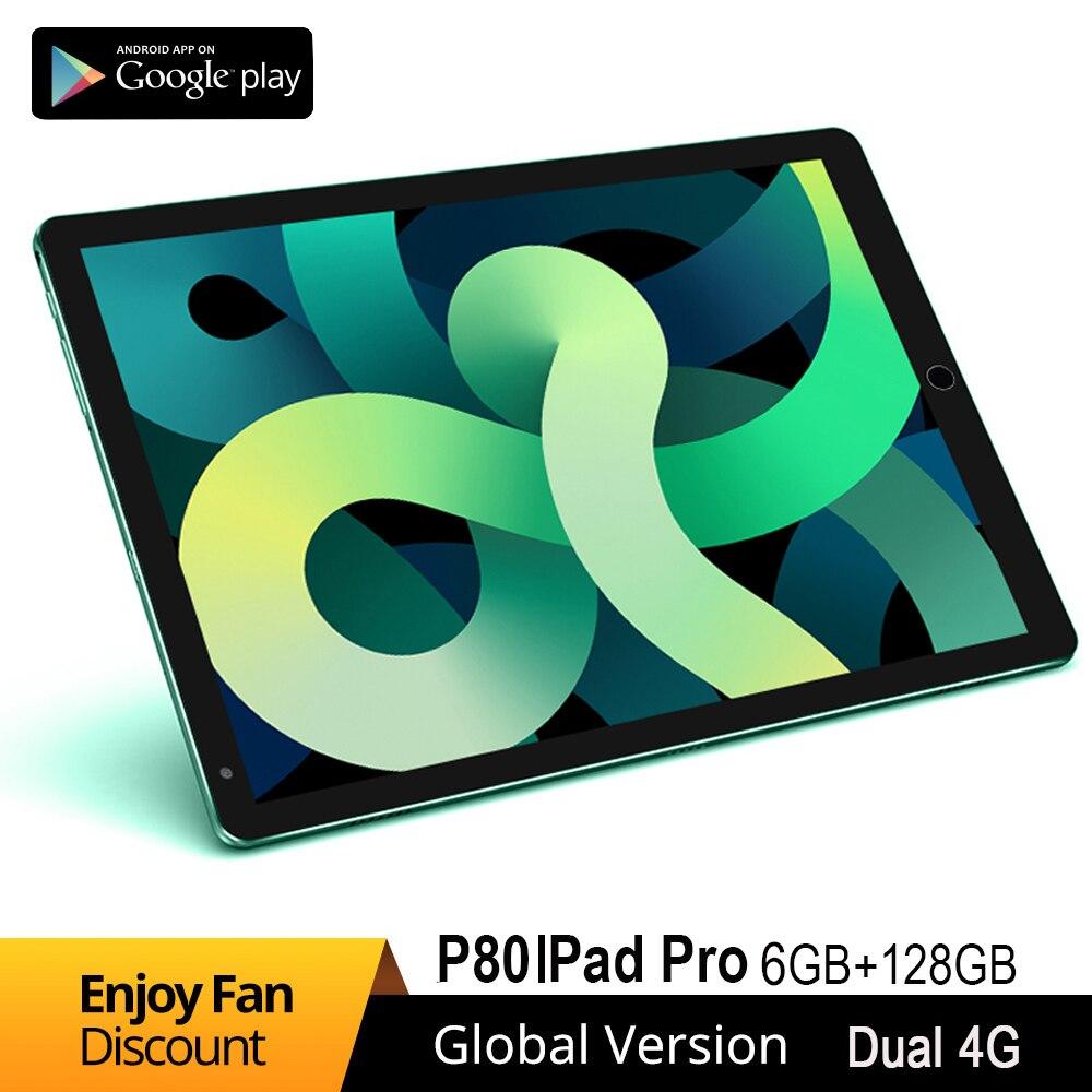 2021 8inch lPad Pro Tablet 10Core 2K HD Screen Tablets 1280 x 800IPS 6GB RAM 128GB ROM Android 10 Wi