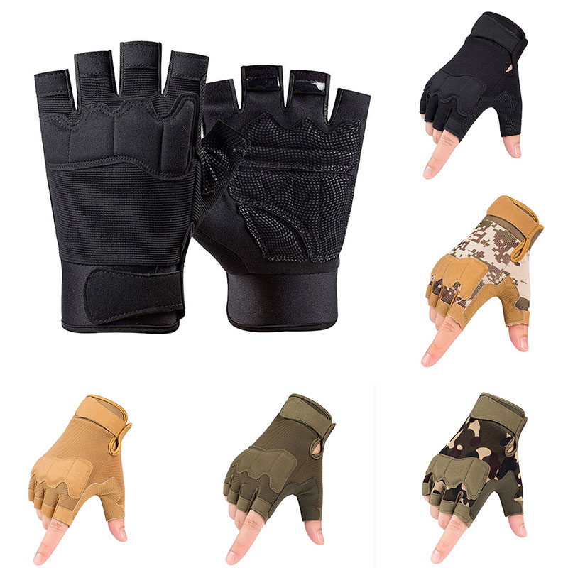 Outdoor Tactical Gloves Airsoft Sport Gloves Half Finger Military Men Combat Gloves Shooting Hunting Gloves Camping And Hiking half finger work gloves practical outdoor sport camping hiking riding climbing tactical gloves cycle gloves men glove