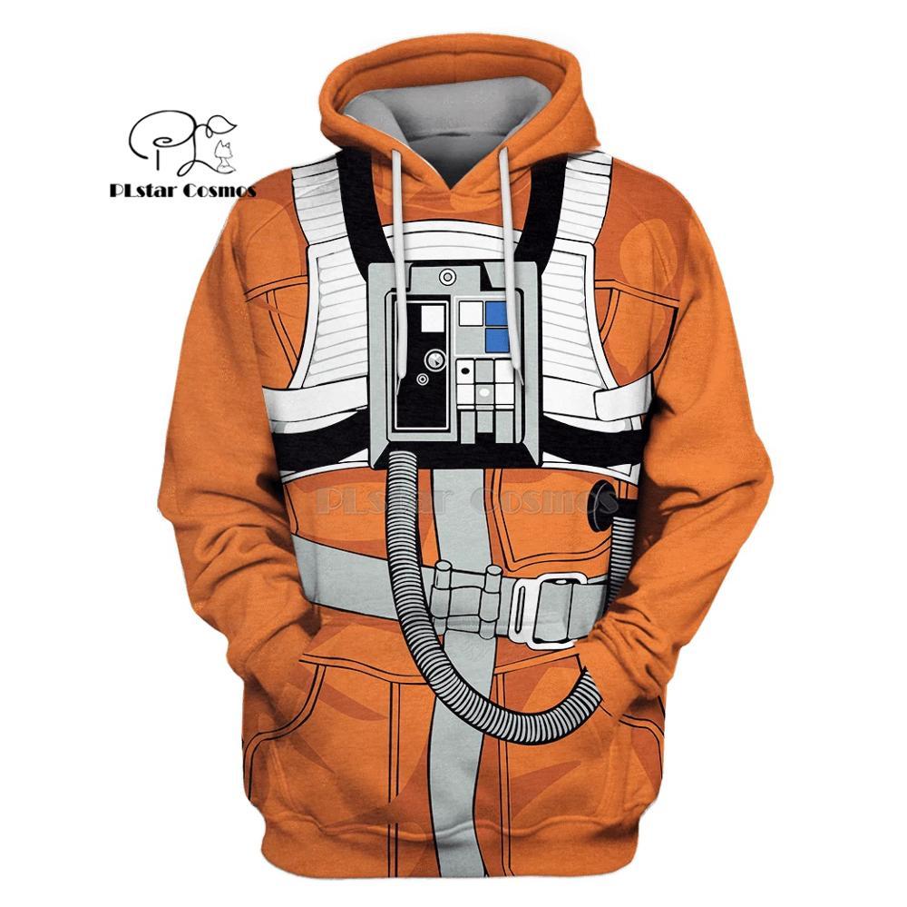 Plstar cosmos x-wing piloto armstrong space suite 3d hoodies/moletom inverno outono engraçado harajuku manga comprida streetwear